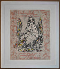 Listed French Surealist Artist, Jean Lurcat Signed Original Lithograph Rare