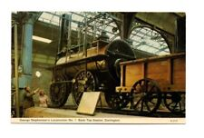 County Durham - Darlington, George Stephenson's Locomotion No. 1 - Postcard