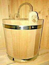 Saunakübel 12L Saunaeimer aus Holz Sauna Hu Eimer Kübel Reisig Wenik Banja Веник