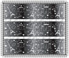 Paris ~ Edible Cake Topper ~ 1/4 Sheet Designer Strips!!! ~ D1499