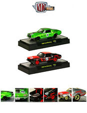 AUTO MODS 1968 FORD MUSTANG 2+2, 2 CARS SET W/CASES 1/64 BY M2 32600-AM02