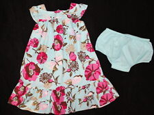 Baby Gap Chelsea Butterfly Teal Pink Dress Girl Size 4 Worn 1X