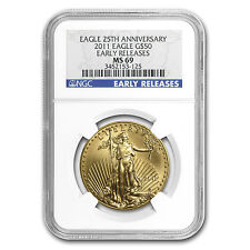 1 oz Gold American Eagle MS-69 NGC (Random Year) - SKU #83482