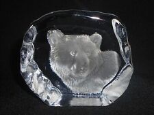 "SUPERBE PRESSE PAPIERS EN VERRE PAPERWEIGHT "" OURS POLAIRE """