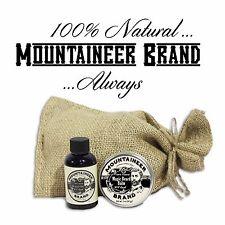 Mountaineer Brand 100% Natural Magic Beard Balm & Beard Oil Combo: WV Coal