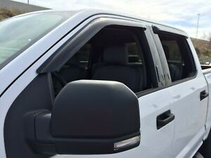 Ford F150 Super Crew 2015 - 2019 Tape-On Wind Deflector Vent Visor Shades 4pc