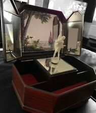 """More details for yaps vintage musical jewellrey box """"love song"""" wind up/dancing ballerina"""