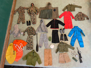Vtg 1964 GI Joe Hasbro Doll Lot Exc Outfits African Commander