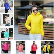 Women Warm Down Cotton Coat Short Slim Hooded Collar Coat Jacket Warm Outwear JJ