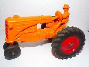 Vintage 1950 Slik Toy 1:25 Minneapolis Moline R Farm Tractor  w/Farmer Driver