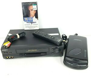 Sony VCR VHS Player SLV-N55 Hi-Fi Stereo Video Cassette Recorder w/ Remote +