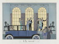 George Barbier s fashion plate Giclee Art Paper Print Poster Reproduction