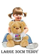 Personalised Message Custom Teddy plush Bear Birthday Baby Girl Boy Gift Large