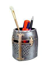 Crusader Medieval Knight Helmet Pen Pot / Pen Holder / Desk Tidy By Nemesis Now