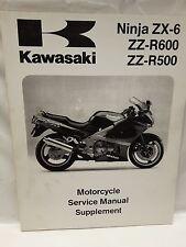 New NOS OEM Kawasaki Service Manual Supplement ZX500 ZX600 1993-99 99924-1161-55