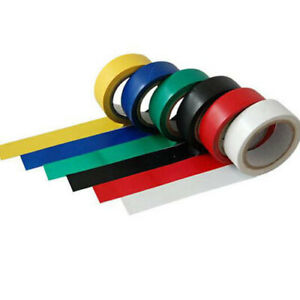 6 of Mix Rolls Colored Electrical PVC Insulation Tape 19mm x 3m Set of 6  DIY