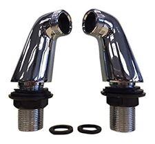Pair of Deck Mounted Bath Pillar Extension Legs Shower Tap Adaptor Chrome Brass