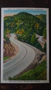 US Hwy 70 Descending the Mt, near Point Lookout, NC (#2) - Linen (Mid 1900s)