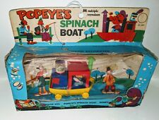 Vintage 1969 Popeye Spinach Boat in Original Box, Figurines Olive Oil, Sweet pea