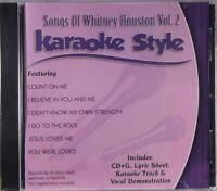 Songs of Whitney Houston Volume 2 Karaoke Style NEW CD+G Daywind 6 Songs