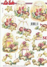 Feuille 3D à découper A4 - 8215.737 Décor Noël - Decoupage Sheet Christmas