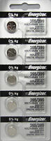 5 PCS FRESH Energizer 395 399 (SR927SW) SR927W  Silver Oxide Watch Batteries