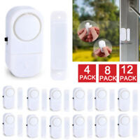 4-12X Anti-Theft Wireless Window Door Entry Alarm 120DB Magnetic Sensor for Home