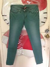 Two for the price of one! Colored skinny jeans (moss green and purple) Sz 27 in