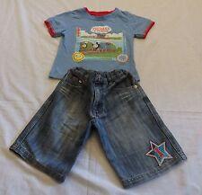 Boys size 4 Thomas the Tank Engine tee &  blue denim shorts