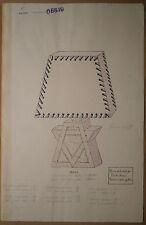 Aquarelle Originale Projet Lampe GABRIEL FOURMAINTRAUX Desvres c.1920/1930 #1