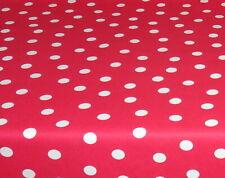 Baumwolle Tischdecke Meterware abwaschbar, rot mit Punkt 226-2126