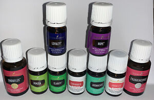 YOUNG LIVING ESSENTIAL OILS MIX LOT OF 9 5ML & 15 ML New Sealed