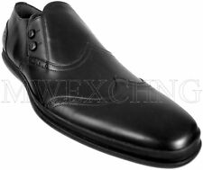 AUTHENTIC CESARE PACIOTTI BLACK BABY CALF LOAFERS US 10.5 ITALIAN MENS SHOES