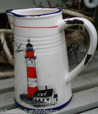 cruche pot Maritime grès Phare design Used Look SHABBY STYLE