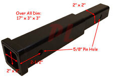 """12"""" Hitch Receiver Extender Extension 2"""" - 500 Load Capacity 8 *FREE SHIPPING*"""
