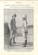 1900 Duke Westminster y general francés en Pretoria Chico héroes de guerra