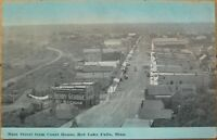 1910 Postcard: Main Street-Red Lake Falls, Minnesota MN