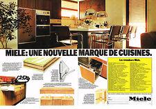 PUBLICITE  1977   MIELE  cuisines  ( 2 pages) meubles & éléctroménager