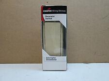 Cooper 7501V -BOX Single Pole Decora Decorator Switch with Ground 15A Ivory