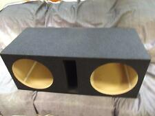 "Obcon 12"" Dual Subwoofer Enclosure Box Labyrinth Slot Vented 3/4"" PB Blue Tweed"