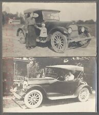 Vintage Car Photos Woman & Cute Girl w/ 1918 Overland Roadster 715875