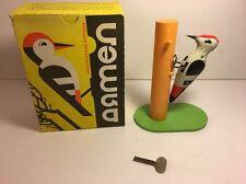 RARE Vintage Woodpecker Bird Wind Up Toy With Original Box