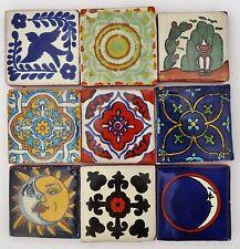 100 Mixed 5cm Mexican Talavera Style Tiles (Seconds)