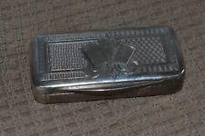 Ancienne Tabatière Snuff Box Argent Massif Guilloché Poinçon 19ème
