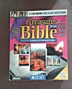 Treasures of the Bible: Journey To The Holy Land  INTERACTIVE SOFTWARE PC 4-CDs
