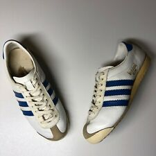 Vintage Adidas Rom White  Leather Sneakers Trainers Made in Yugoslavia Rare uk 8