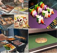 2 PCS Copper Chef Grill and Bake Mats BBQ Pad Tool Camping Hiking Home Outdoor