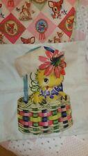 Retro Kitsch Cute Chick Cushion Cover