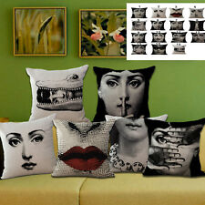 Pop Rétro Fornasetti Art Coussin Taies d'oreiller Oreiller Couverture Sofa Décor
