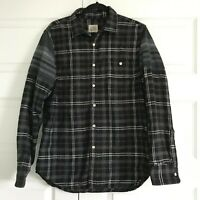 HOWE Mens Creative Workforce Black Gray Plaid Button Front Flannel Shirt Large